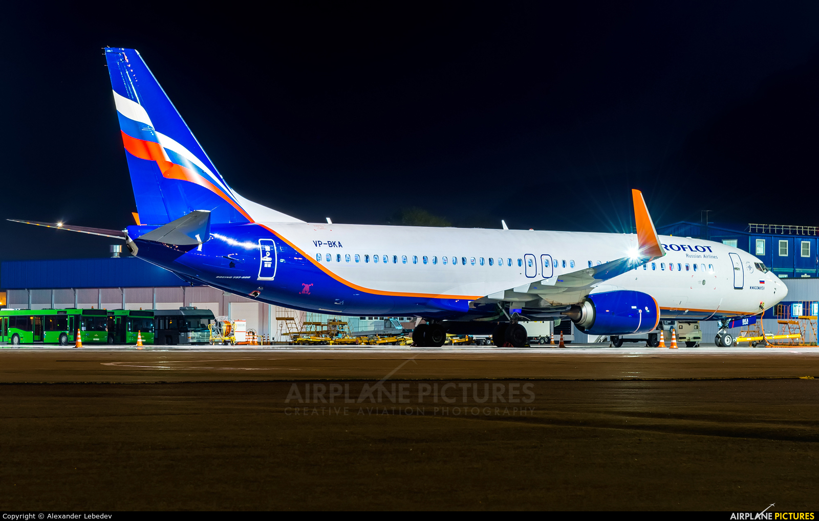 Aeroflot VP-BKA aircraft at Mineralnye Vody