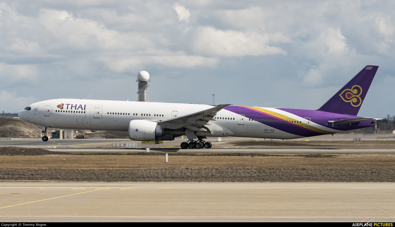 Thai Airways HS-TKR aircraft at Oslo - Gardermoen