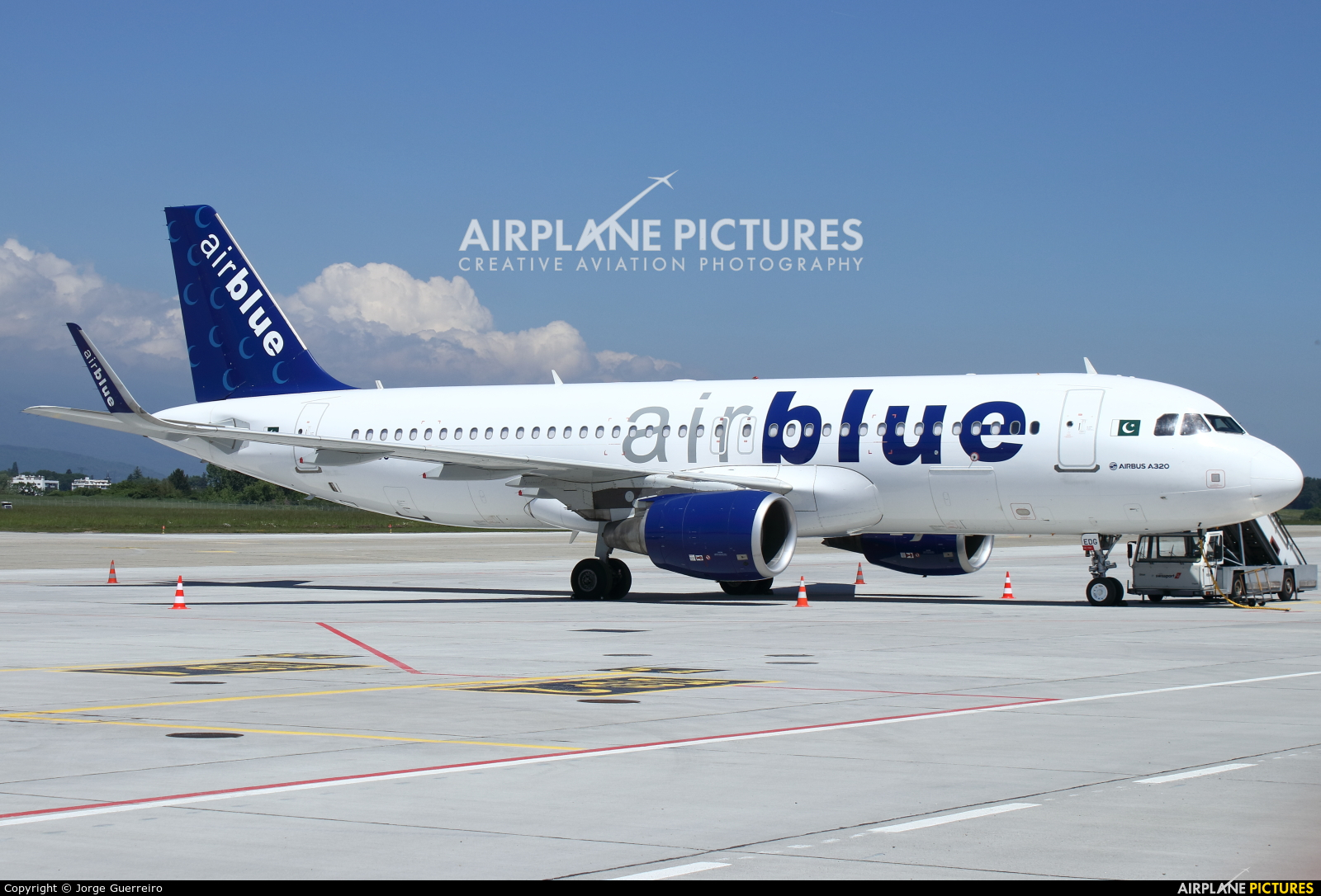 Air Blue AP-EDG aircraft at Geneva Intl