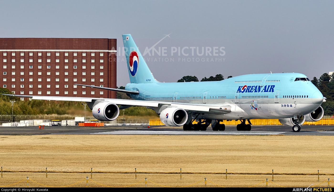 Korean Air HL7631 aircraft at Tokyo - Narita Intl