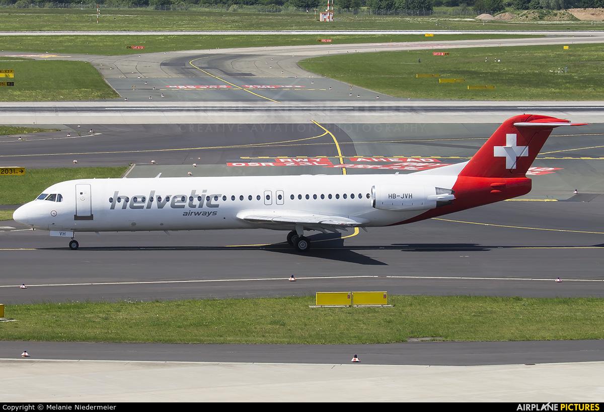Helvetic Airways HB-JVH aircraft at Düsseldorf