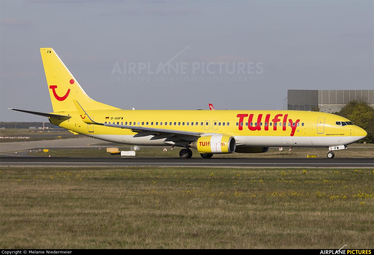 TUIfly D-AHFW aircraft at Frankfurt