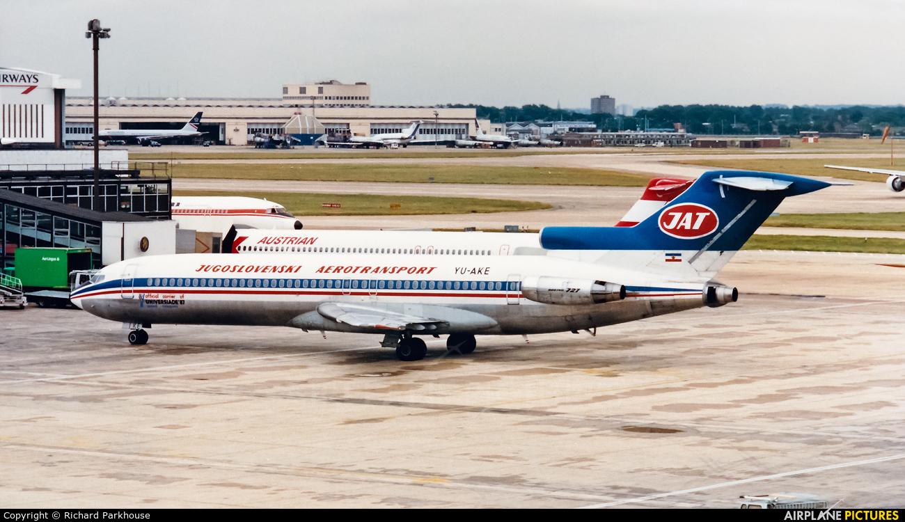 JAT - Yugoslav Airlines YU-AKE aircraft at London - Heathrow