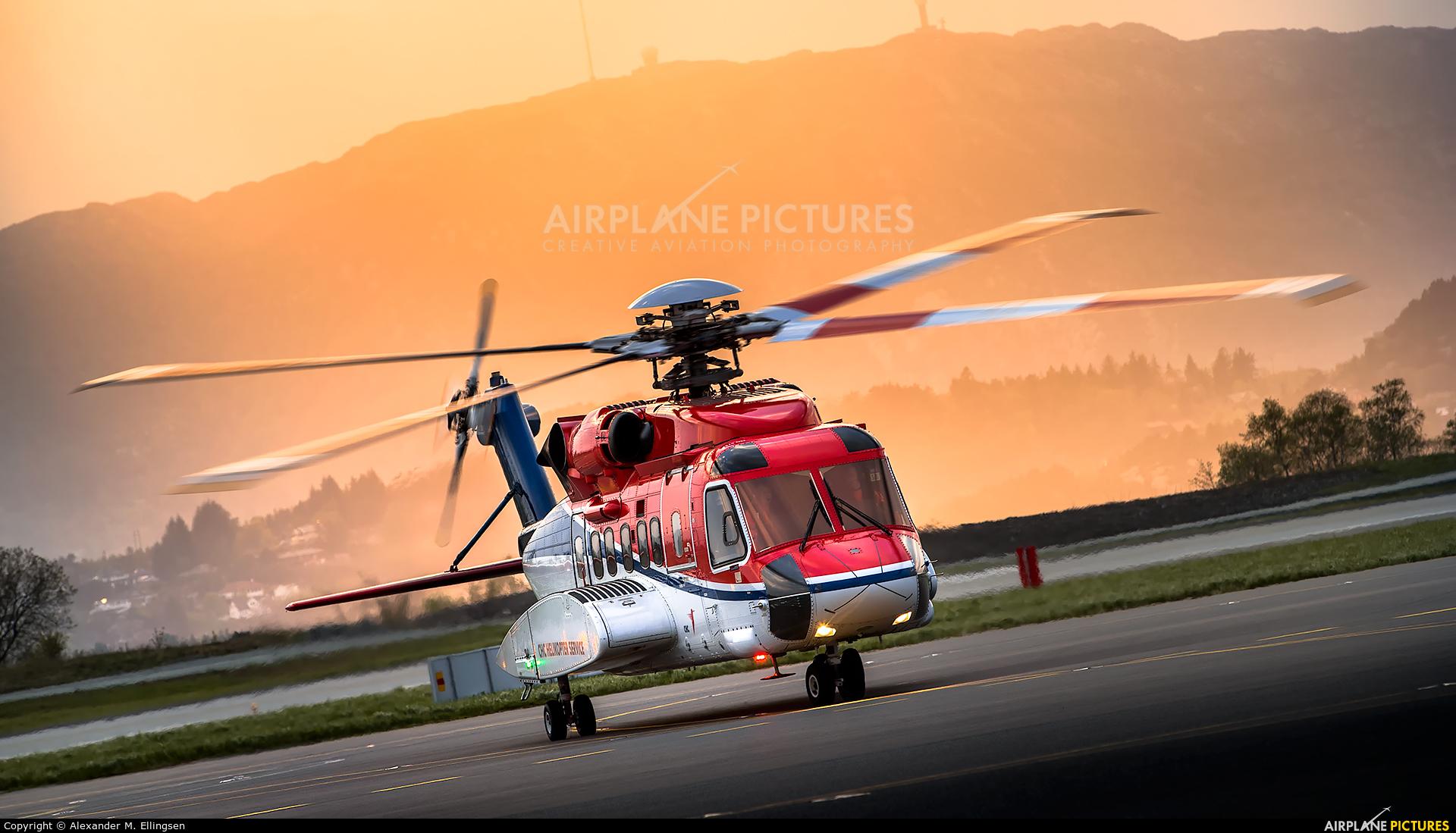 CHC Norway LN-OQI aircraft at Bergen - Flesland