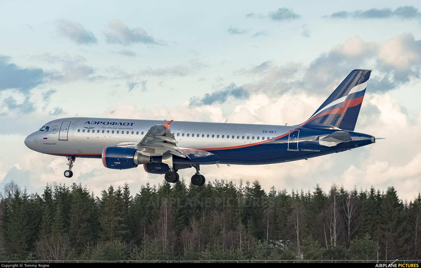 Aeroflot VQ-BKT aircraft at Oslo - Gardermoen