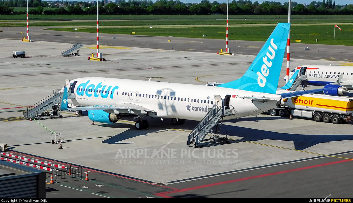 Corendon Airlines TC-TJJ aircraft at Rotterdam