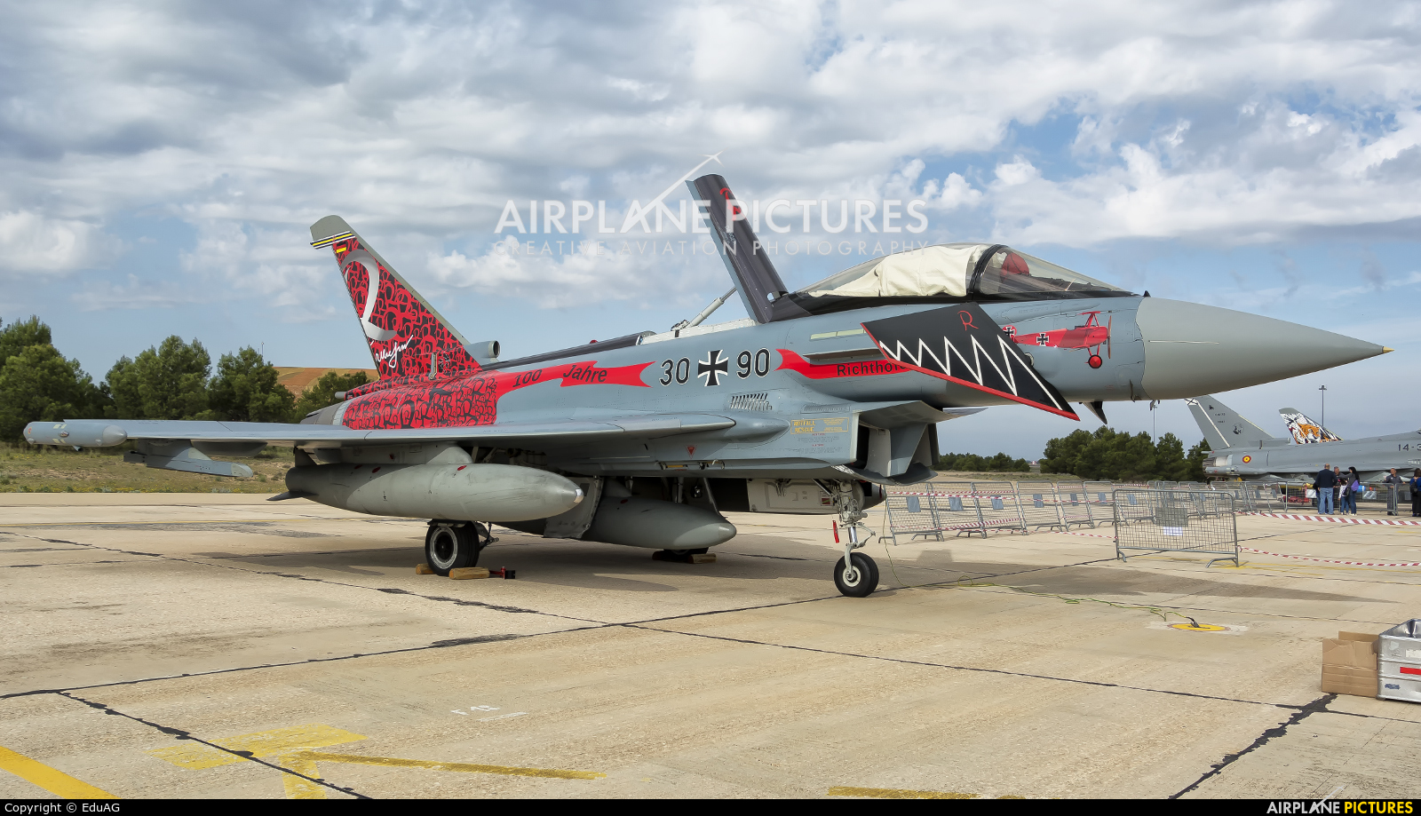 30+90 - Germany - Air Force Eurofighter Typhoon at Albacete   Photo