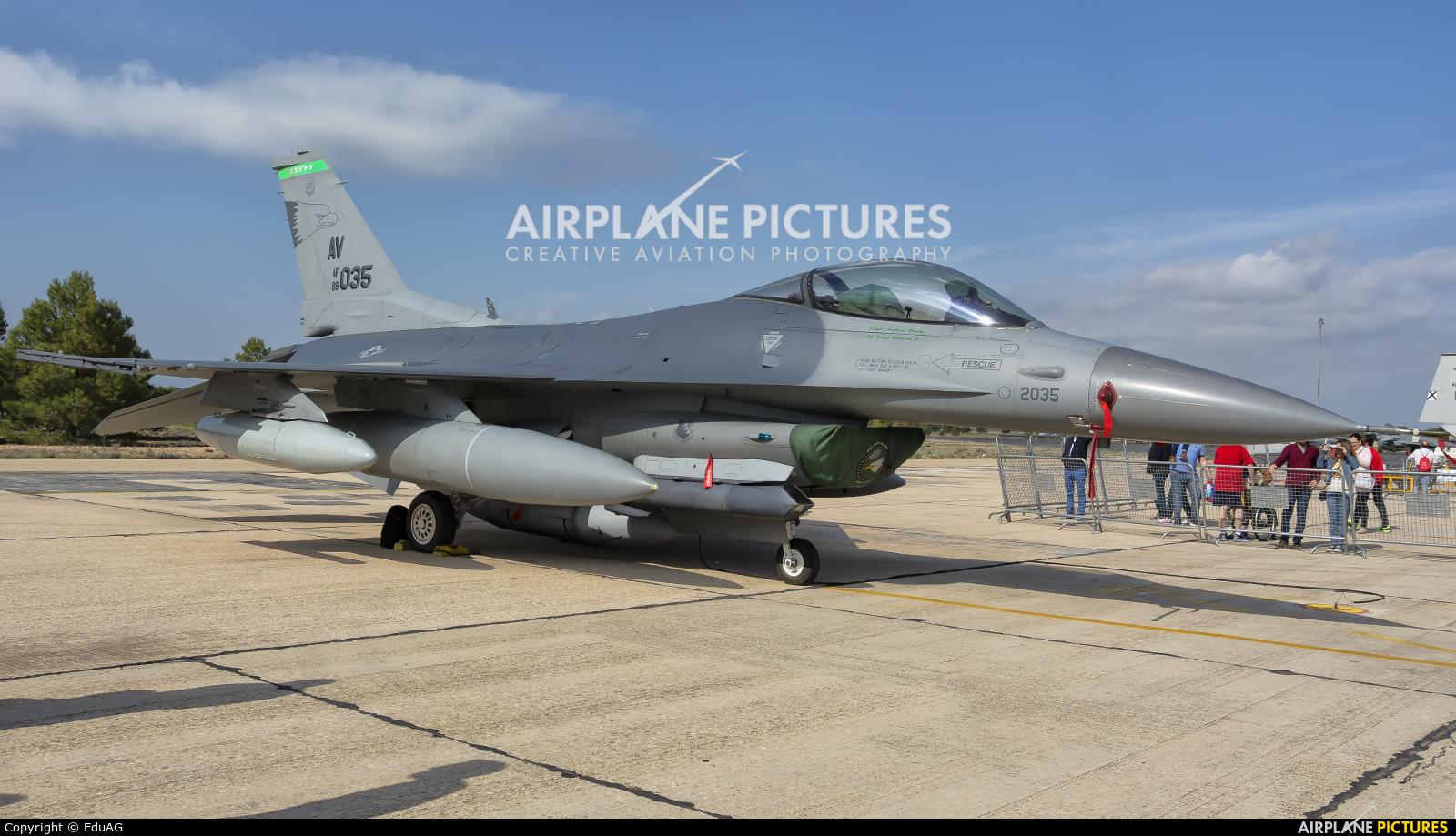 USA - Air Force 89-2035 aircraft at Albacete
