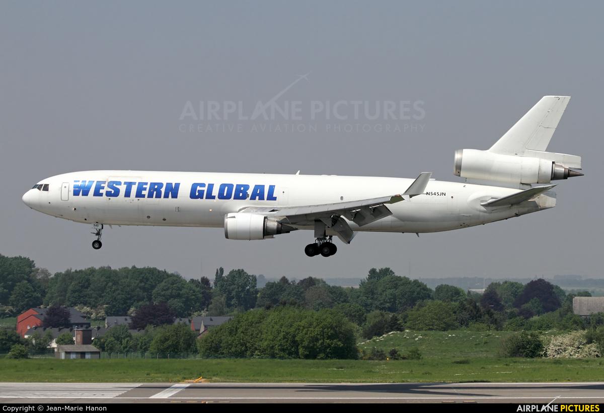 Western Global Airlines N545JN aircraft at Liège-Bierset