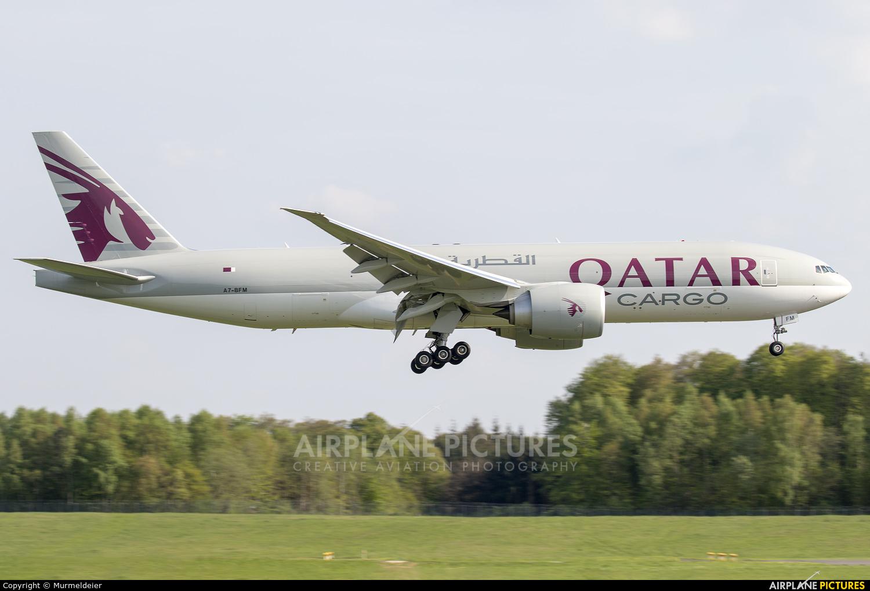 Qatar Airways Cargo A7-BFM aircraft at Luxembourg - Findel