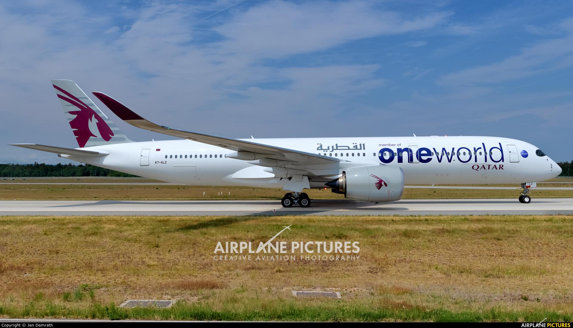 Qatar Airways A7-ALZ aircraft at Frankfurt