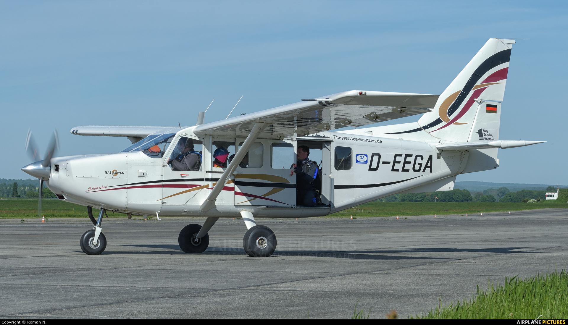 Private D-EEGA aircraft at Bautzen