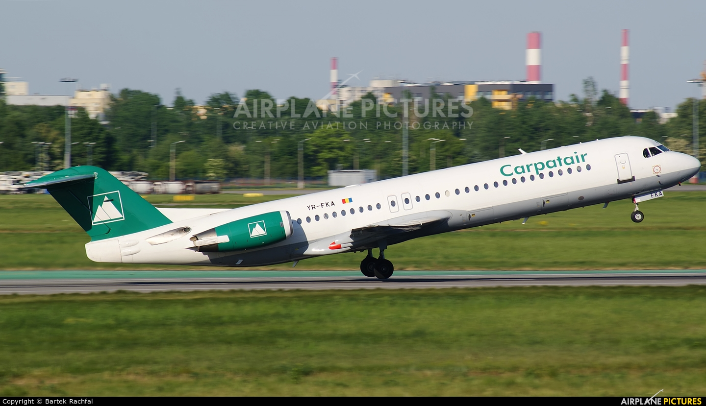 Carpatair YR-FKA aircraft at Warsaw - Frederic Chopin