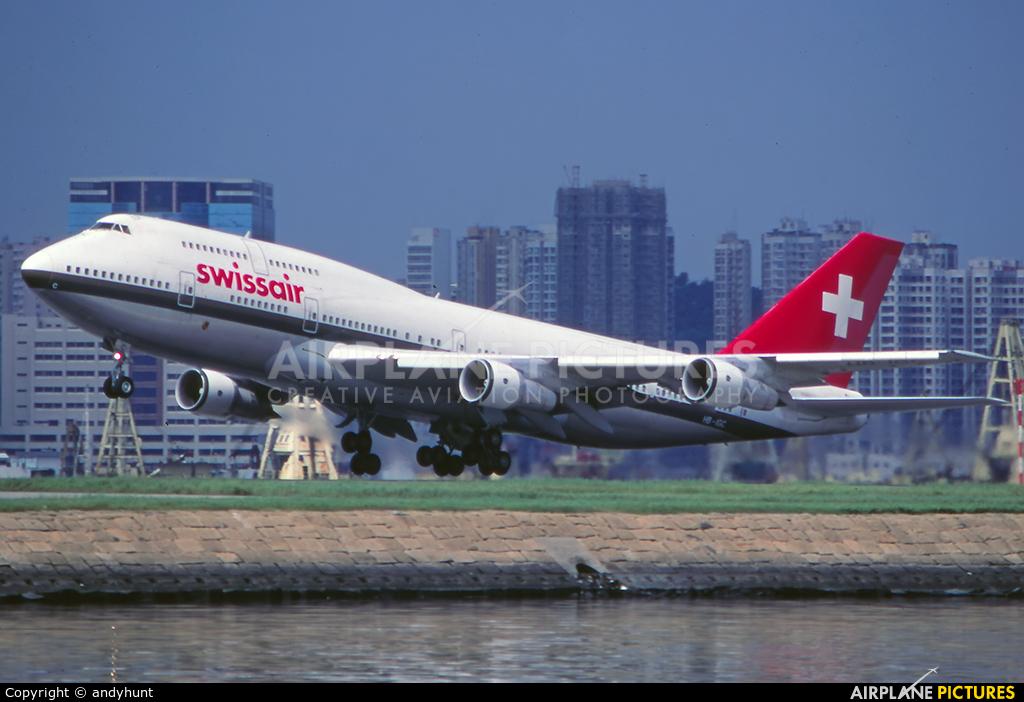 Swissair HB-IGC aircraft at HKG - Kai Tak Intl CLOSED