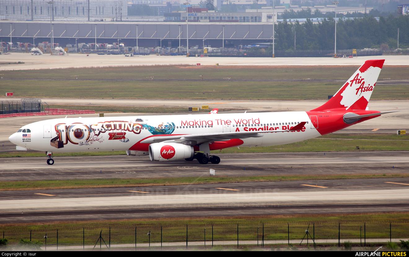 AirAsia X 9M-XXF aircraft at Chengdu