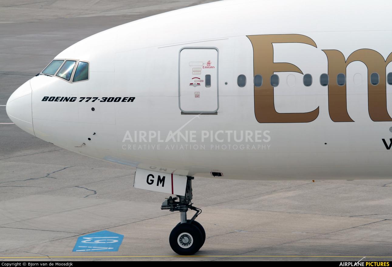 Emirates Airlines A6-EGM aircraft at Düsseldorf