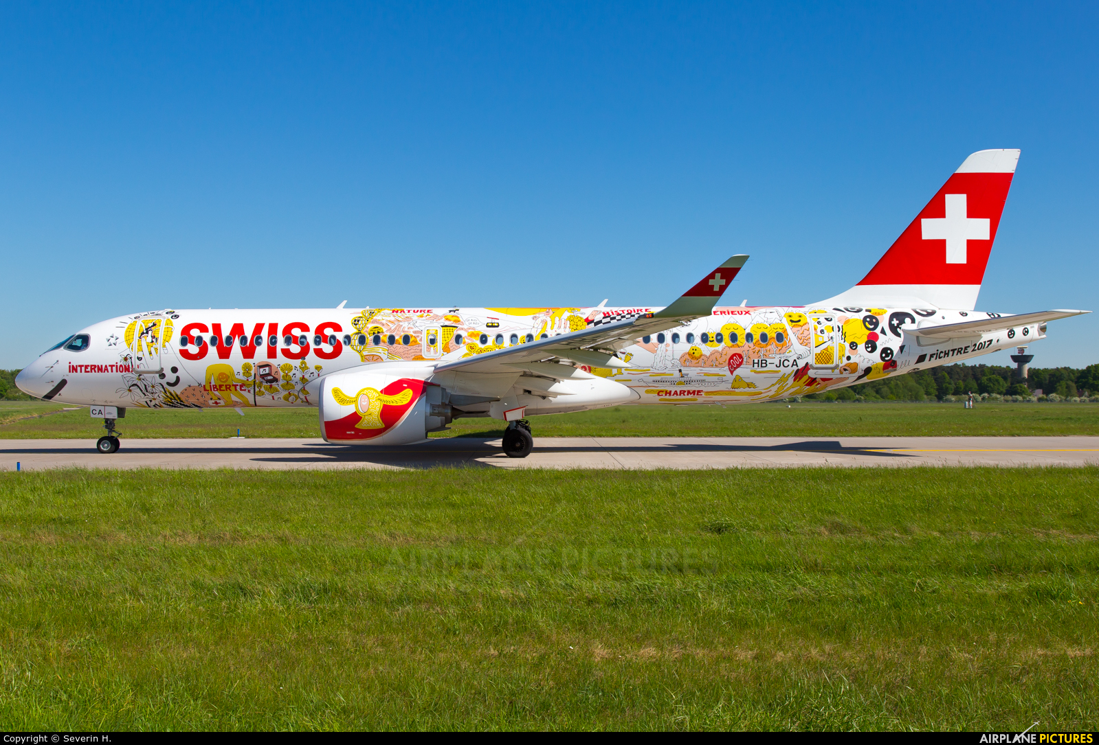 Swiss HB-JCA aircraft at Hannover - Langenhagen