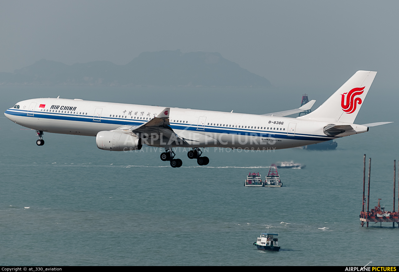 Air China B-8386 aircraft at HKG - Chek Lap Kok Intl