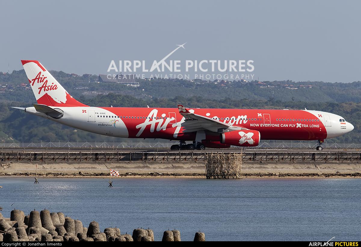 AirAsia X PK-XRC aircraft at Denpasar- Ngurah Rai Intl