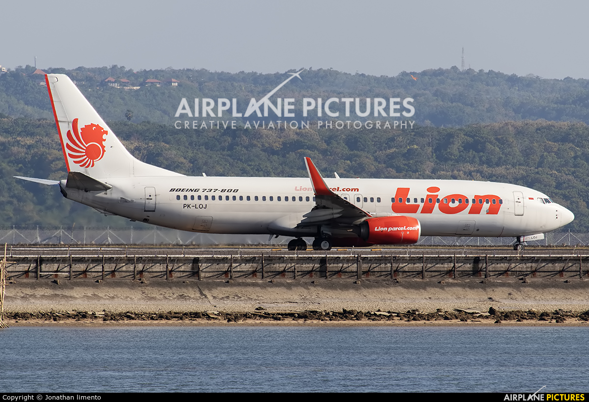 Lion Airlines PK-LOJ aircraft at Denpasar- Ngurah Rai Intl