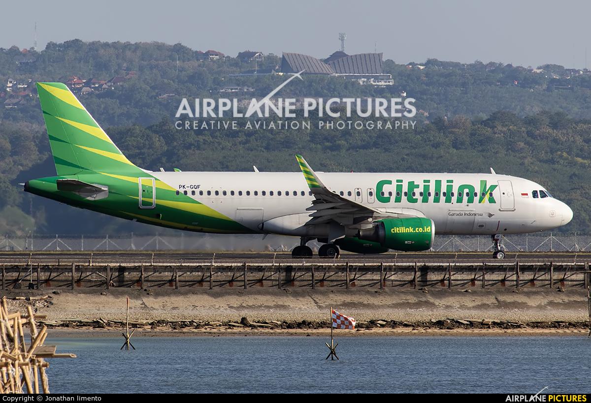 Citilink PK-GQF aircraft at Denpasar- Ngurah Rai Intl