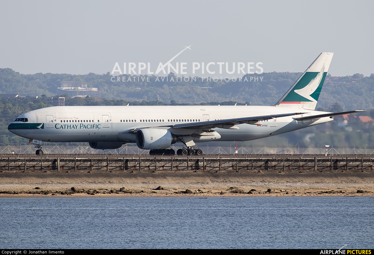 Cathay Pacific B-HNB aircraft at Denpasar- Ngurah Rai Intl