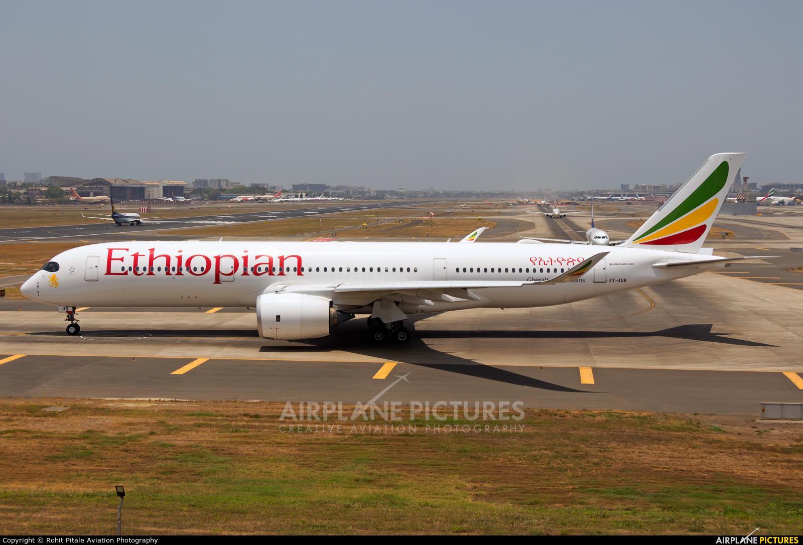 Ethiopian Airlines ET-AUB aircraft at Mumbai - Chhatrapati Shivaji Intl