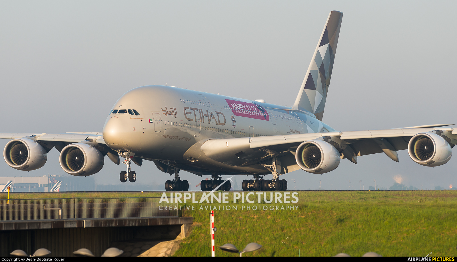 Etihad Airways A6-APE aircraft at Paris - Charles de Gaulle