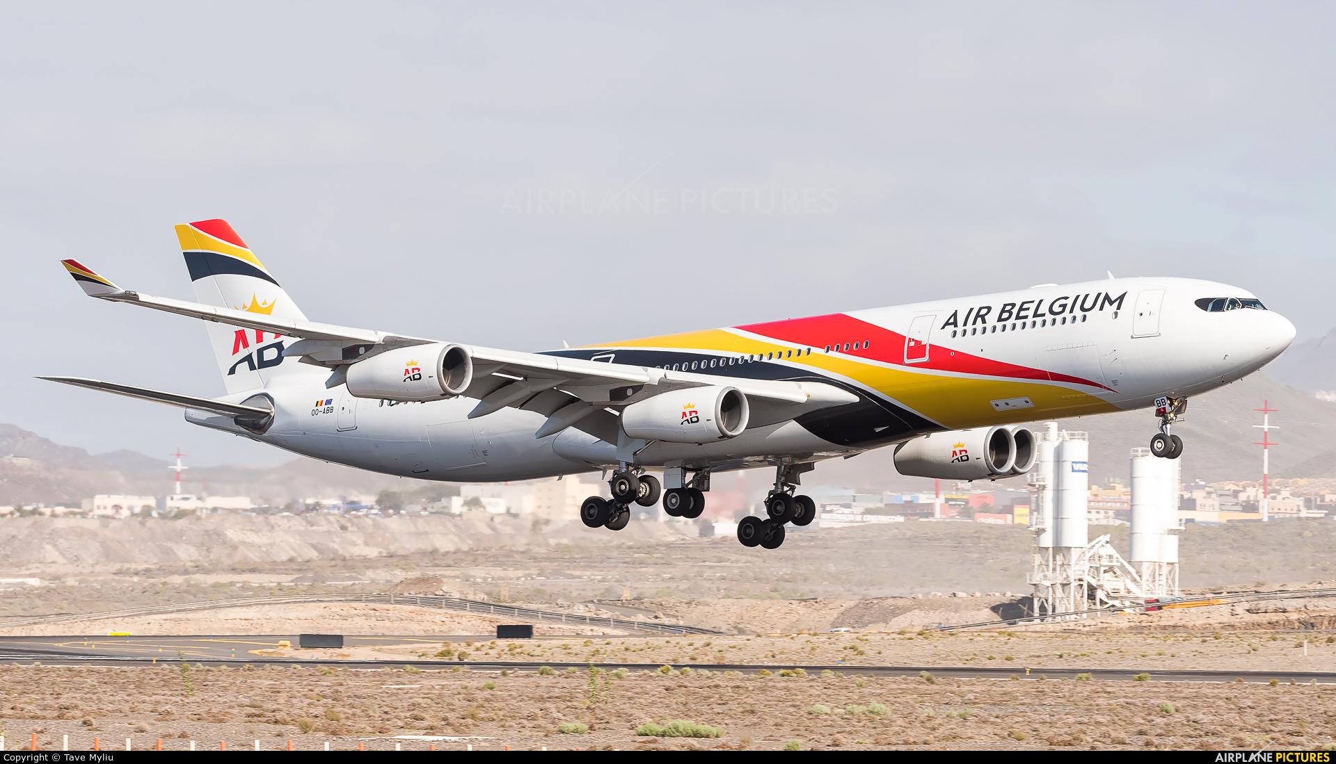 Air Belgium OO-ABB aircraft at Tenerife Sur - Reina Sofia