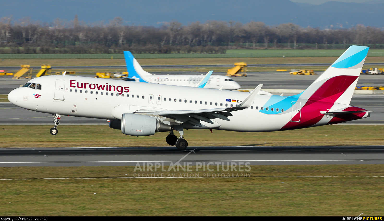 Eurowings D-AEWJ aircraft at Vienna - Schwechat
