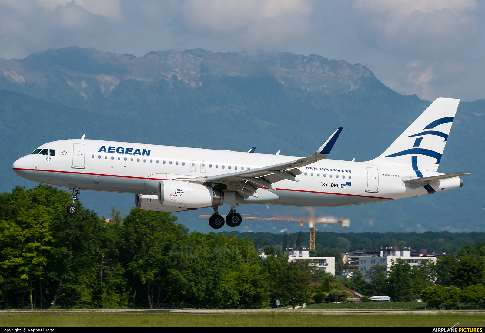 Aegean Airlines SX-DNC aircraft at Geneva Intl