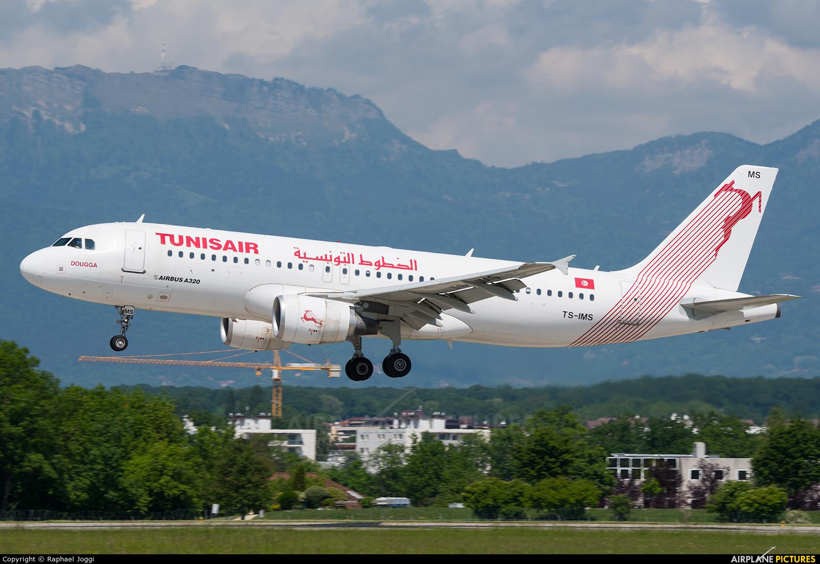 Tunisair TS-IMS aircraft at Geneva Intl