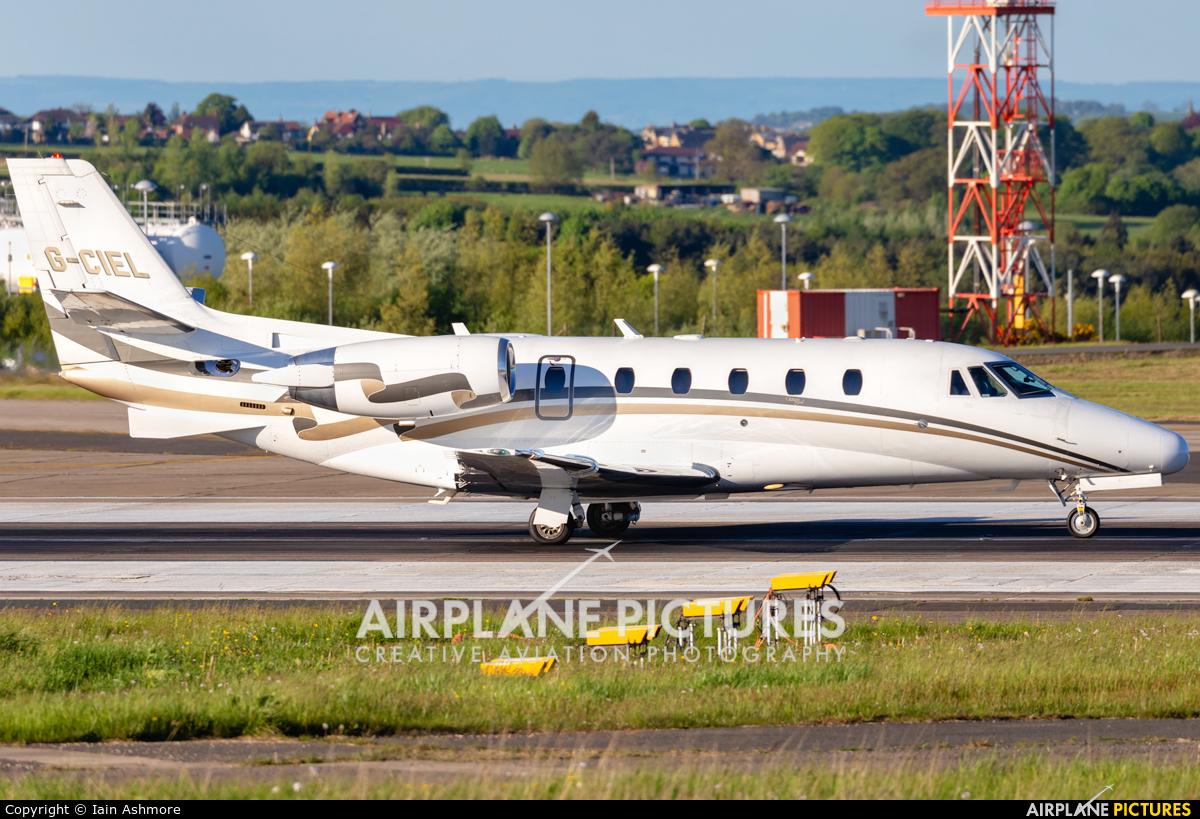 London Executive Aviation G-CIEL aircraft at Leeds Bradford