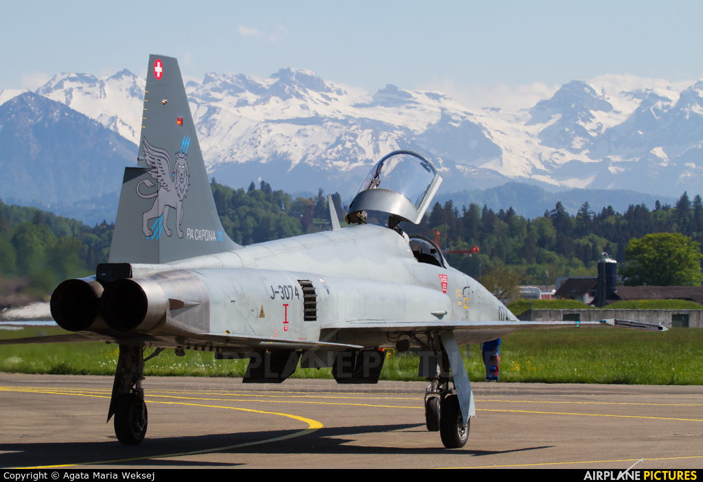 Switzerland - Air Force J-3074 aircraft at Emmen
