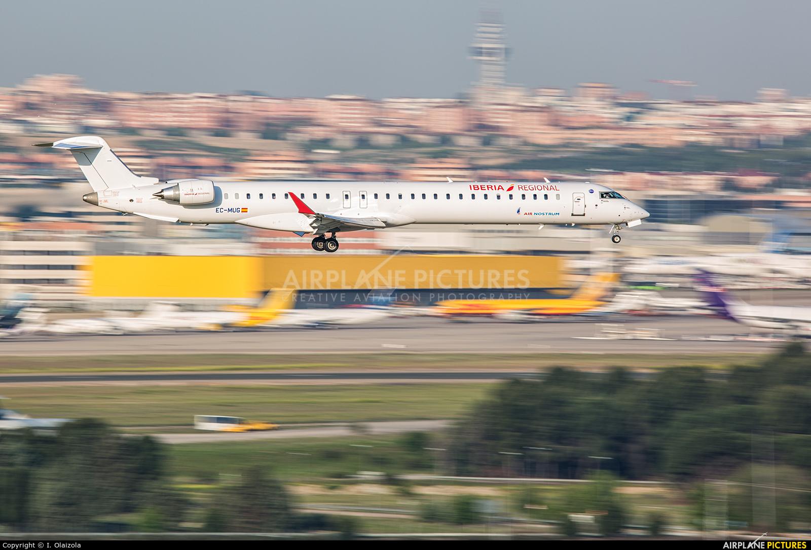Air Nostrum - Iberia Regional EC-MUG aircraft at Madrid - Barajas