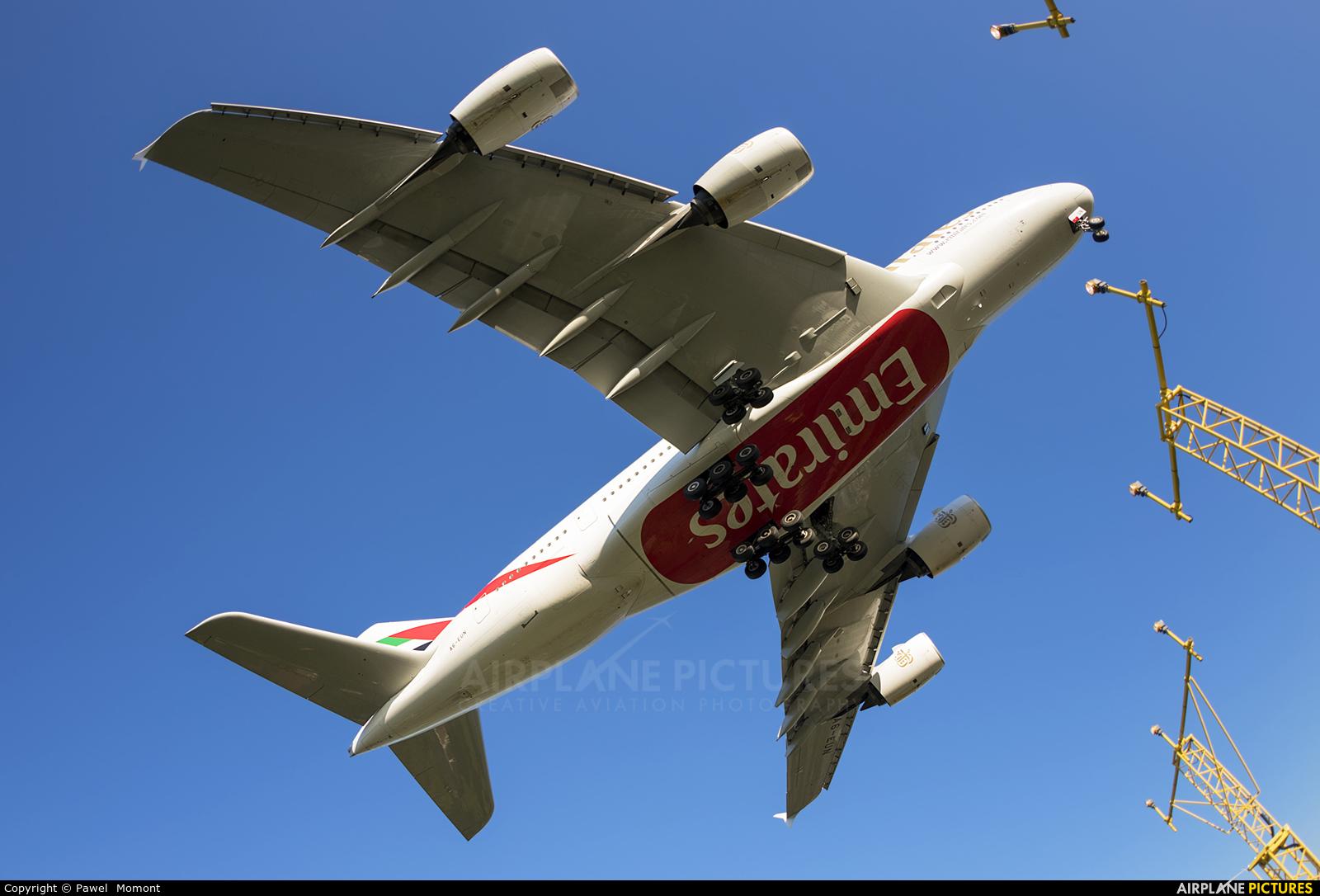 Emirates Airlines A6-EUN aircraft at Manchester