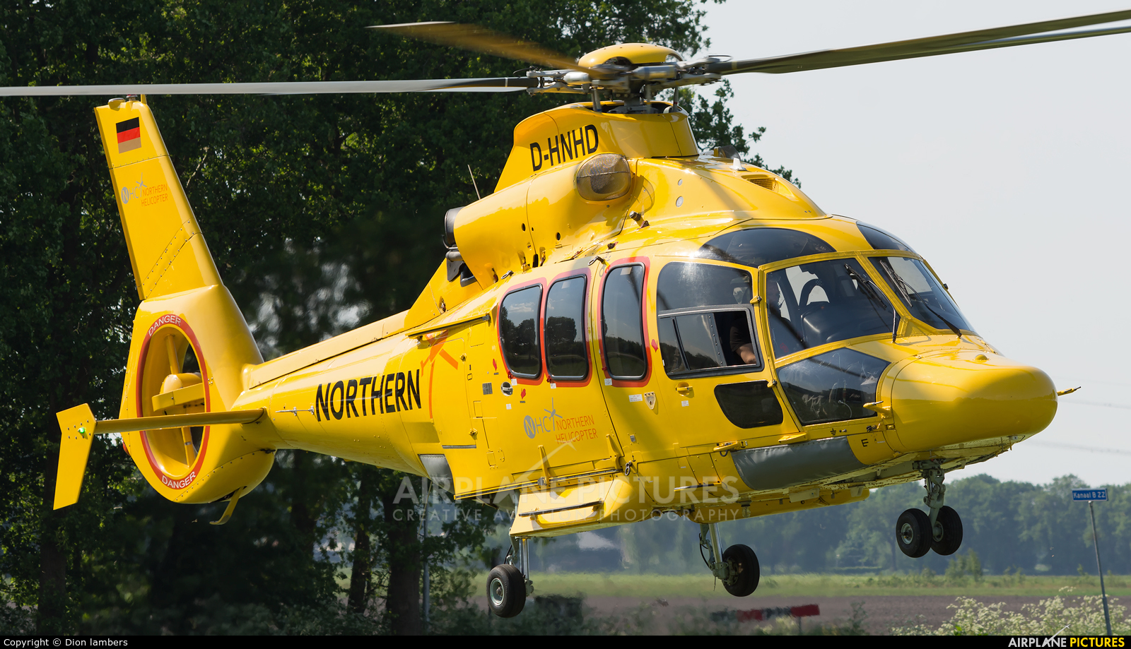Northern Helicopters D-HNHD aircraft at Heli-port Emmen
