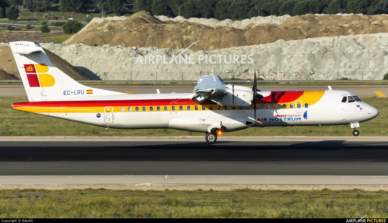 Air Nostrum - Iberia Regional EC-LRU aircraft at Madrid - Barajas