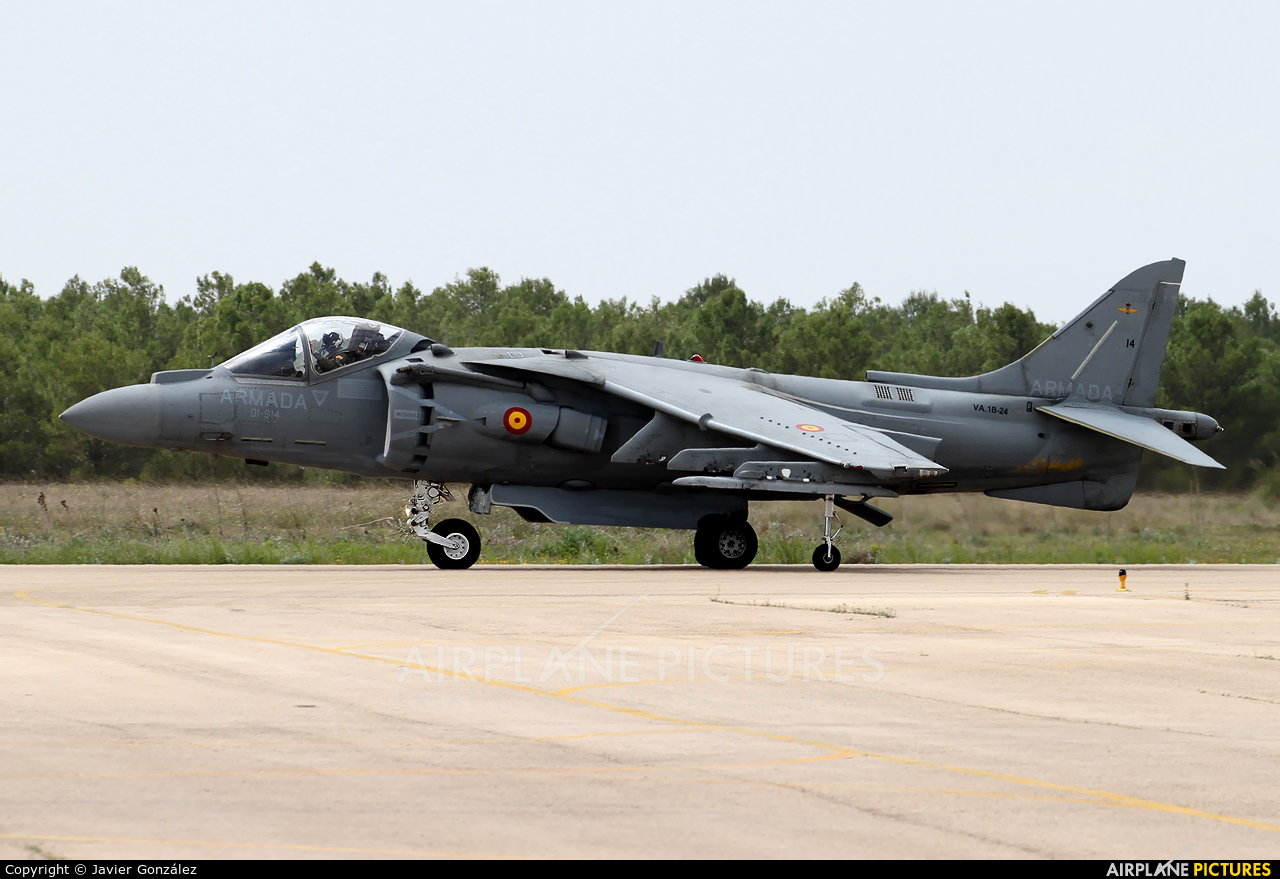 Spain - Navy VA.1B-24 aircraft at Albacete