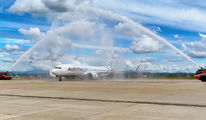 Delivery flight of first Boeing 737 MAX for Air Italy  title=