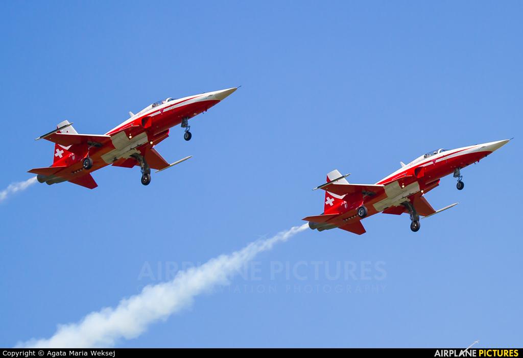 Switzerland - Air Force:  Patrouille de Suisse J-3082 aircraft at Emmen