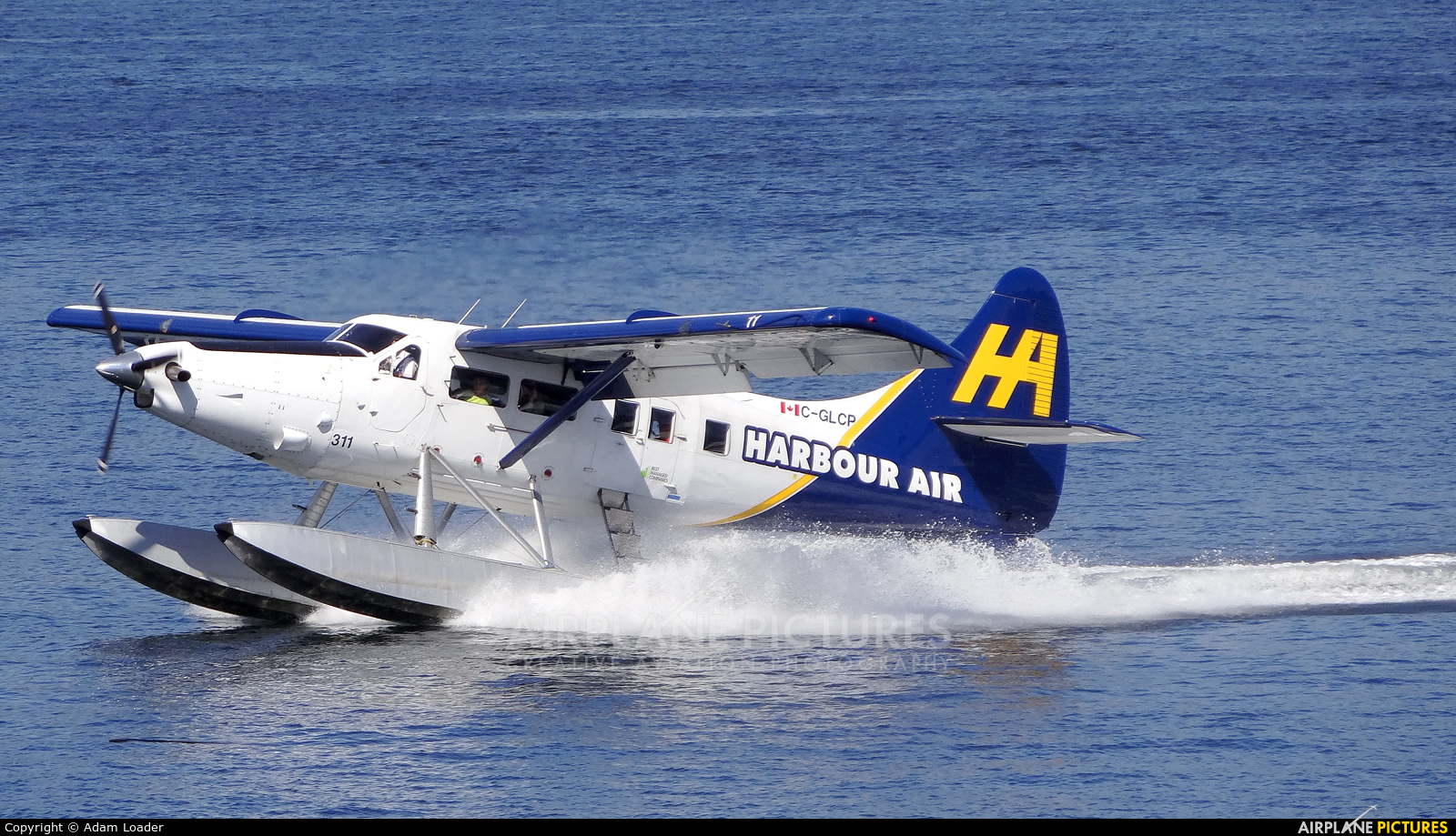Harbour Air C-GLCP aircraft at Vancouver Coal Harbour, BC