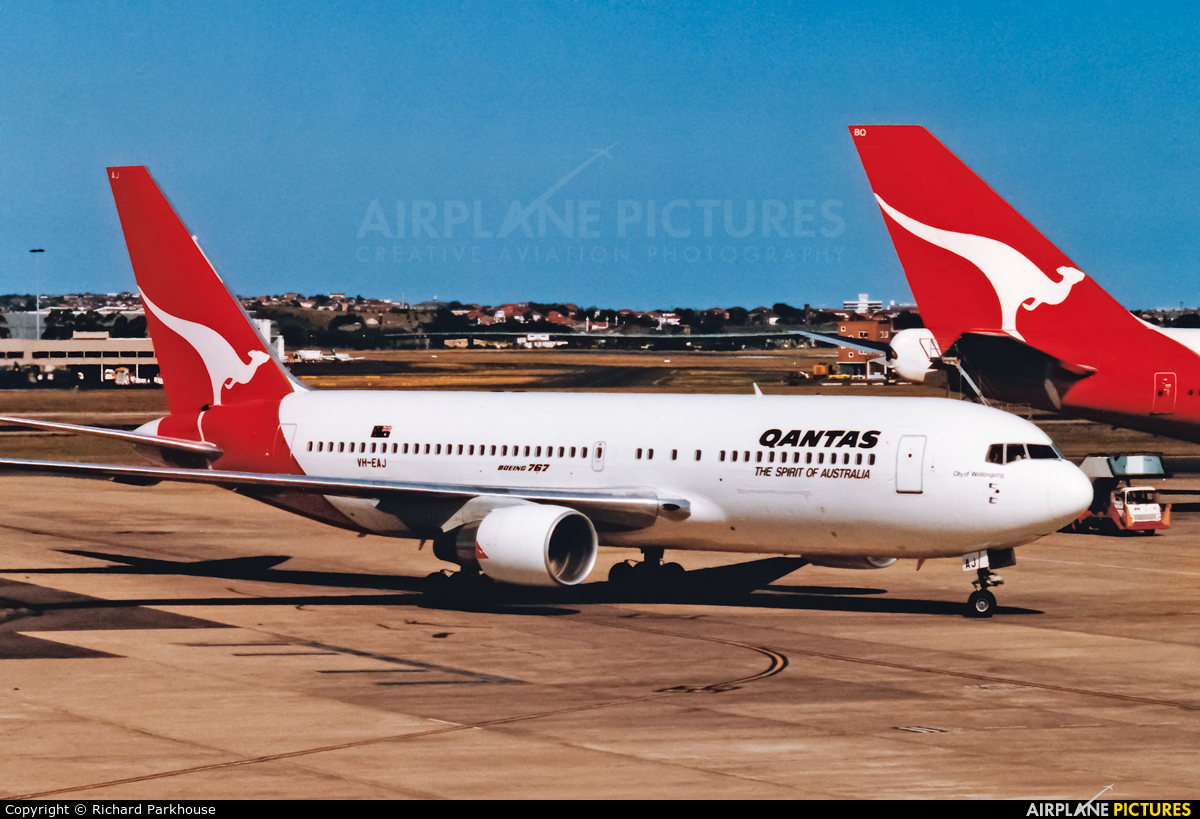 QANTAS VH-EAJ aircraft at Sydney - Kingsford Smith Intl, NSW