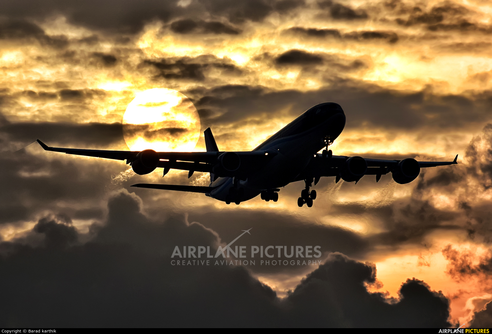 Azerbaijan Airlines 4K-AZ86 aircraft at Bangalore - Bengaluru Intl