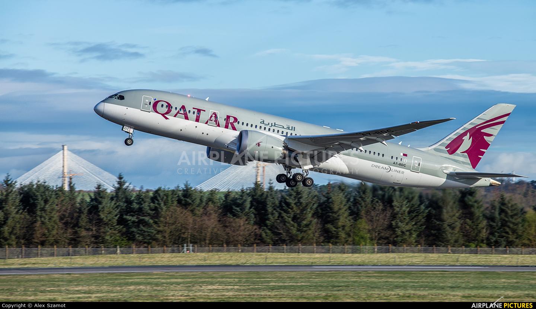 Qatar Airways A7-BDC aircraft at Edinburgh