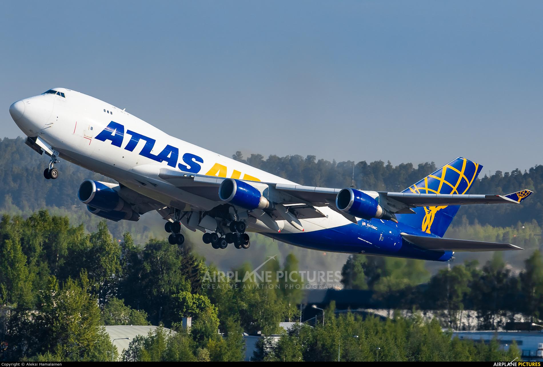 Atlas Air N419MC aircraft at Helsinki - Vantaa