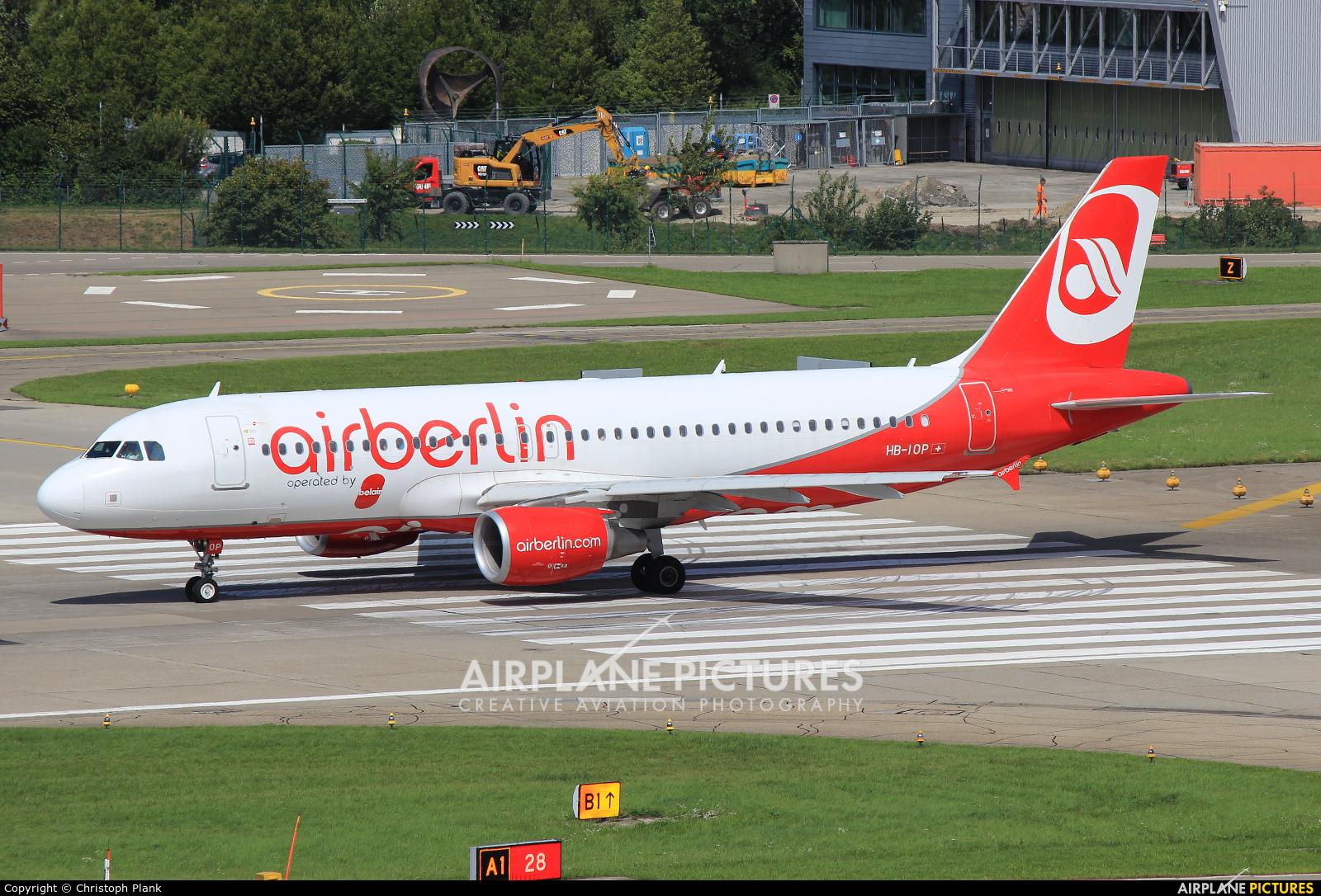 Air Berlin - Belair HB-IOP aircraft at Zurich