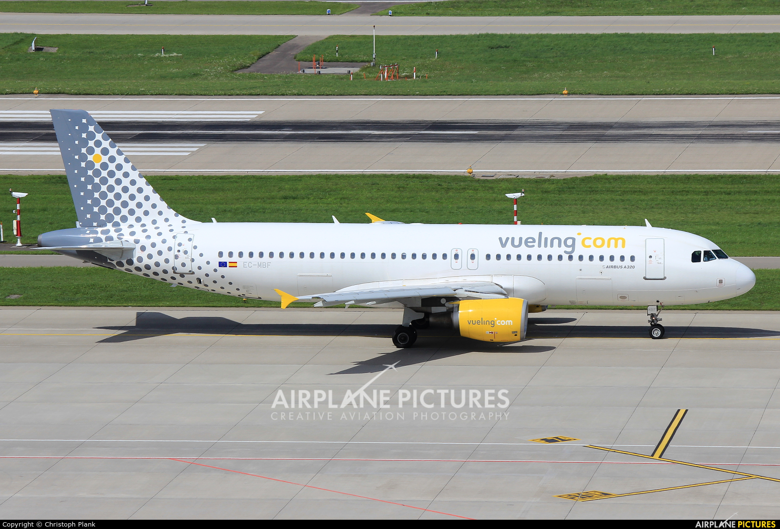 Vueling Airlines EC-MBF aircraft at Zurich