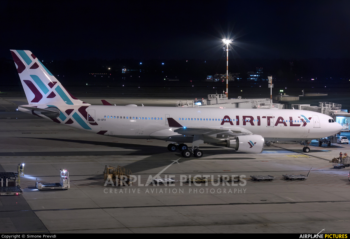 Air Italy EI-GFX aircraft at Milan - Malpensa