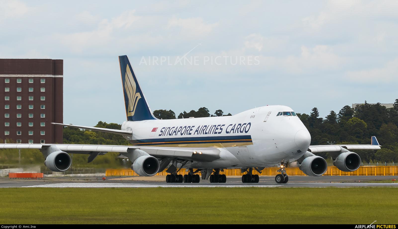 Singapore Airlines Cargo 9V-SFN aircraft at Tokyo - Narita Intl